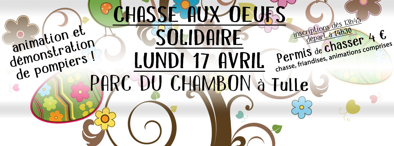 Chasse aux oeufs solidaire,